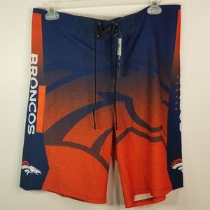 NWT Denver Broncos swim trunks size 36
